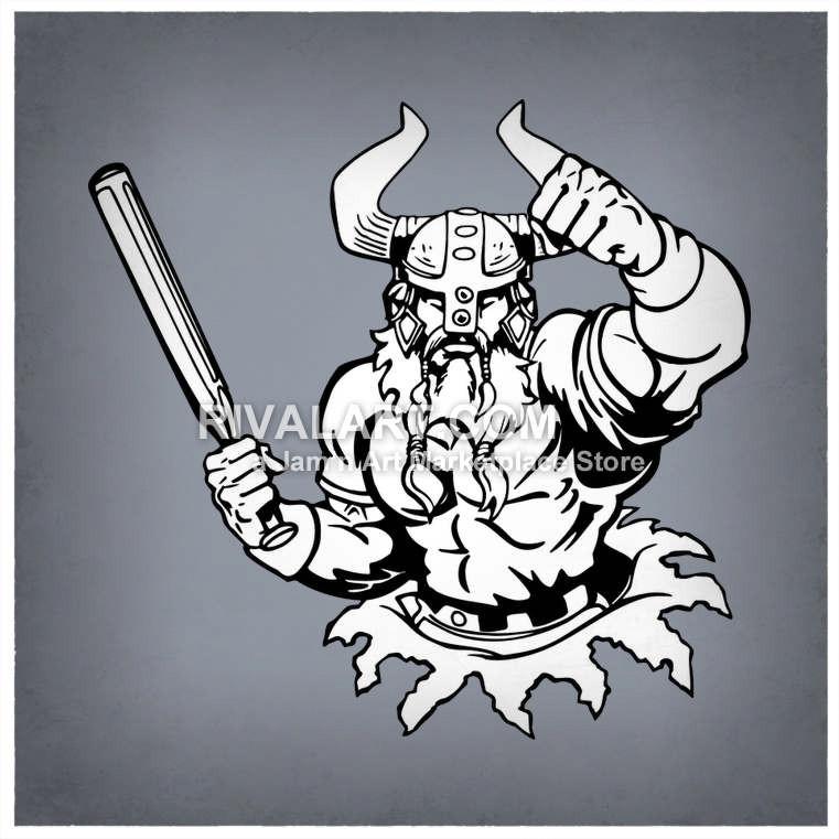 Viking clipart baseball Clipart A Vector Bat A