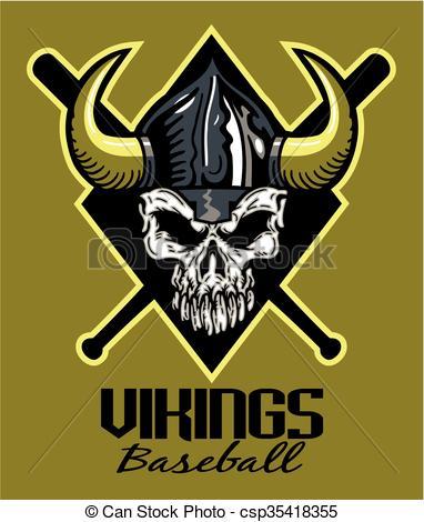 Viking clipart baseball Vikings helmet Vector  vikings