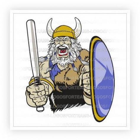 Viking clipart baseball Viking Logo Part Mascot Bat