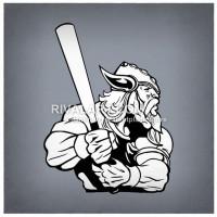 Viking clipart baseball Holding Viking Clipart B a