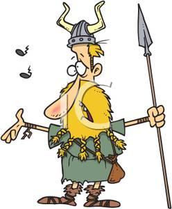 Spear clipart viking Spear a Clipart Man Singing
