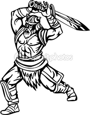 Viking clipart muscular Vector illustration viking white Nordic