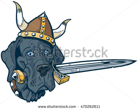 Viking clipart silly A of a Blue Blue