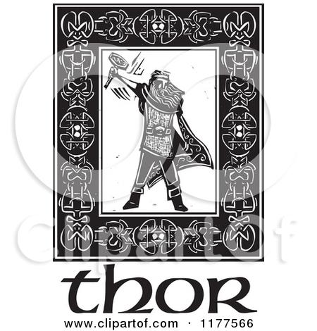 Celtic Warriors clipart vikings  Stock Hammer Of Vector