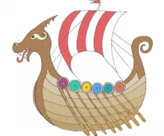 Viking Ship clipart vicious Ship Teaching Viking Display Vikings