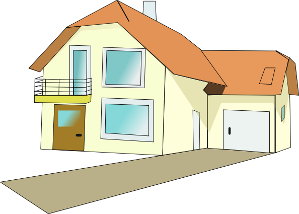 Villa clipart house background Online vector image royalty at