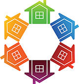 Community clipart housing community Free Royalty Clip GoGraph Townhouses