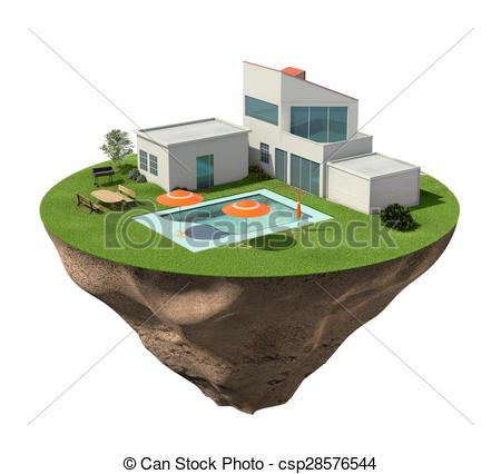 Villa clipart hause Stock pool house swimming Villa