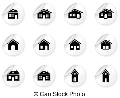 Villa clipart house garage Garage of with buildings house