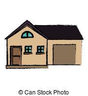 Villa clipart house garage Csp43562996 Villa garage garage with