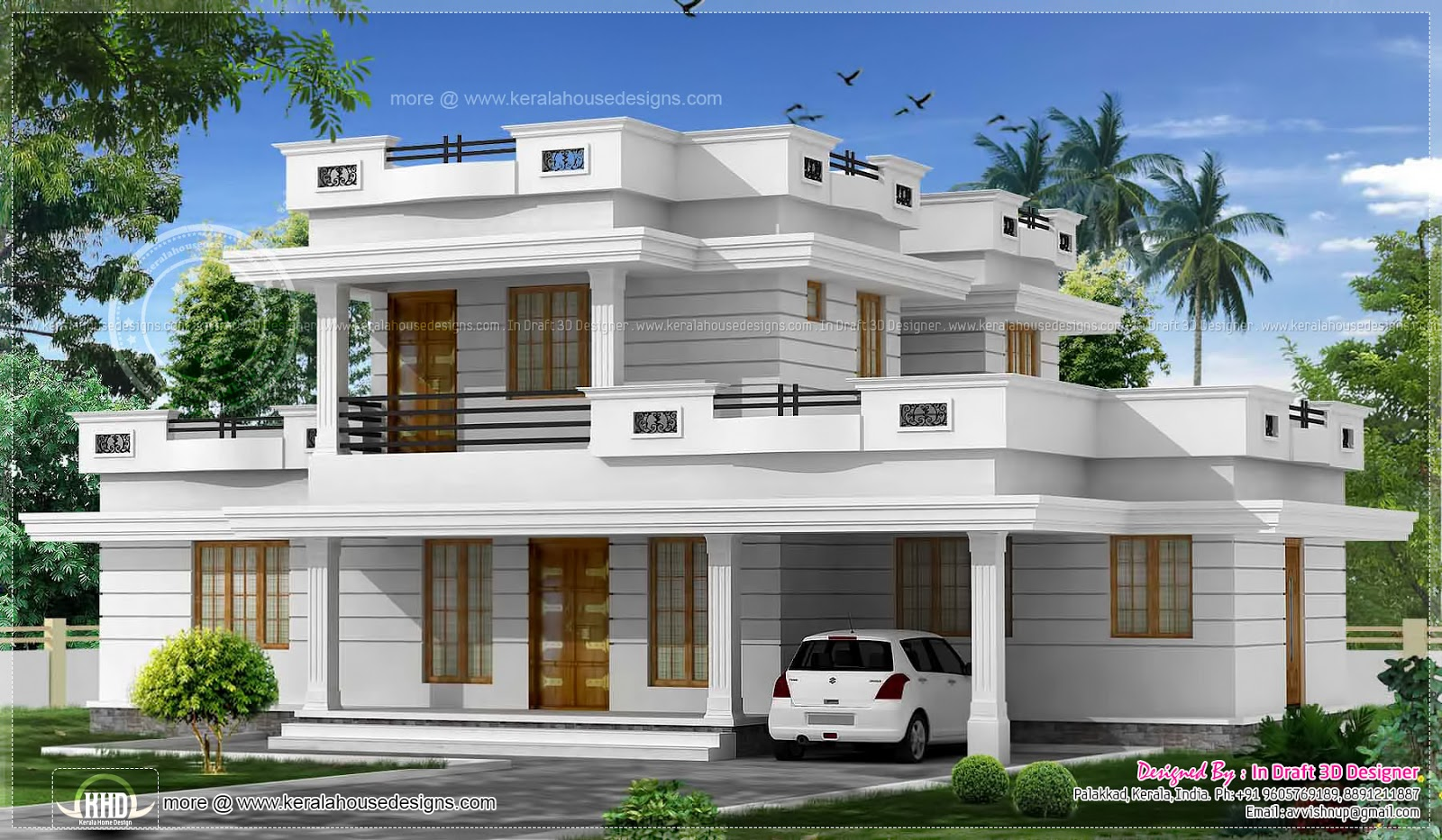 Villa clipart indian house Plans House Villa Homekeralaplans 3D