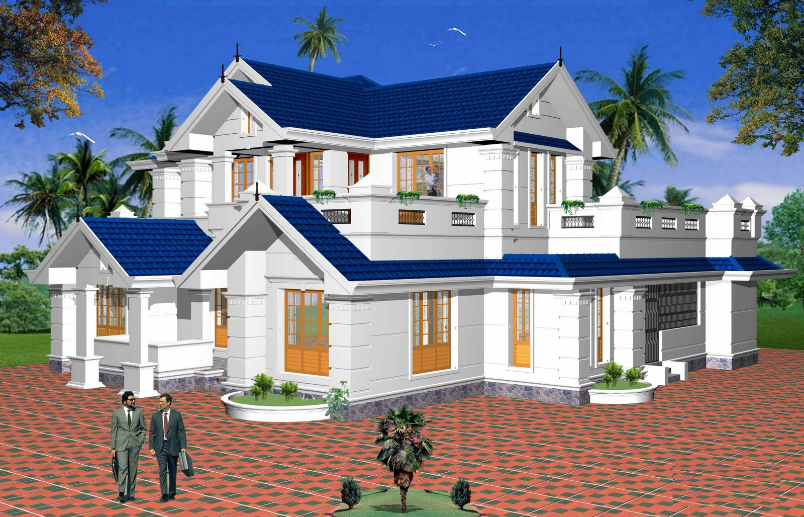 Villa clipart indian house Kerala Sq Villa House Design