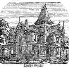 Villa clipart manor Victorian – Art house Free