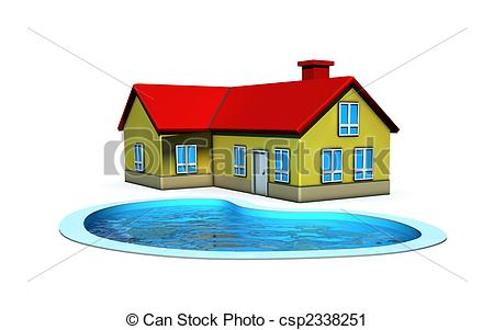 Hosue clipart pool Clipart – – House Page