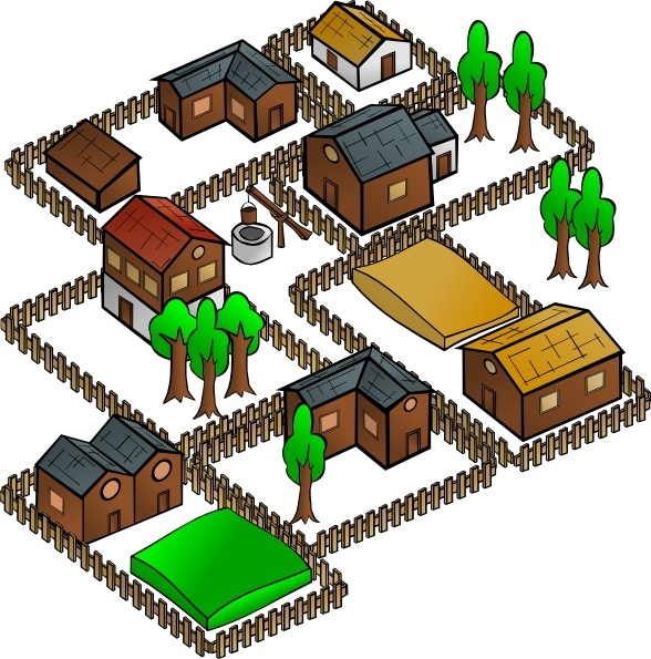 Village clipart Drawing Free svg clip