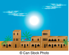 Arabian clipart village Free Residential and Arabic Illustrations