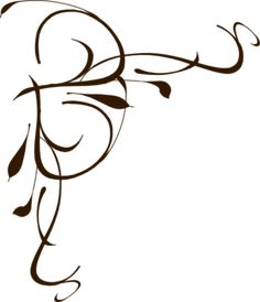 Calligraphy clipart flower silhouette Art art vector clip other
