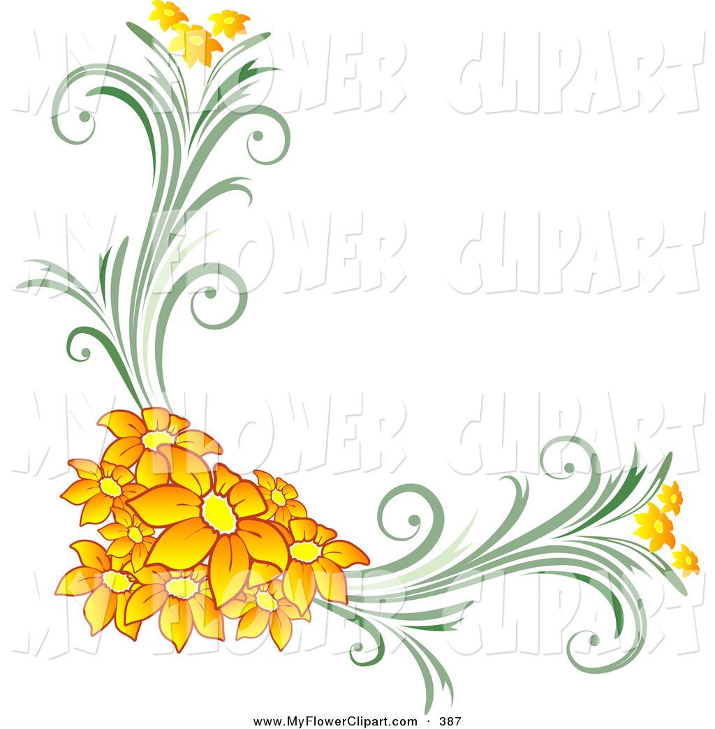 Orange Flower clipart flowery Floral Download Floral Clipart Clip