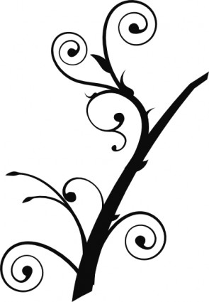 Branch clipart leave illustration Silhouette Silhouette Vine Clipart Clipart