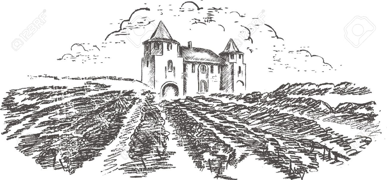 Vineyard clipart Vineyard Clipart Vintage Vintage Vineyard