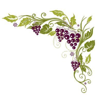 Grape clipart printable Vine border quiling Grape grapes