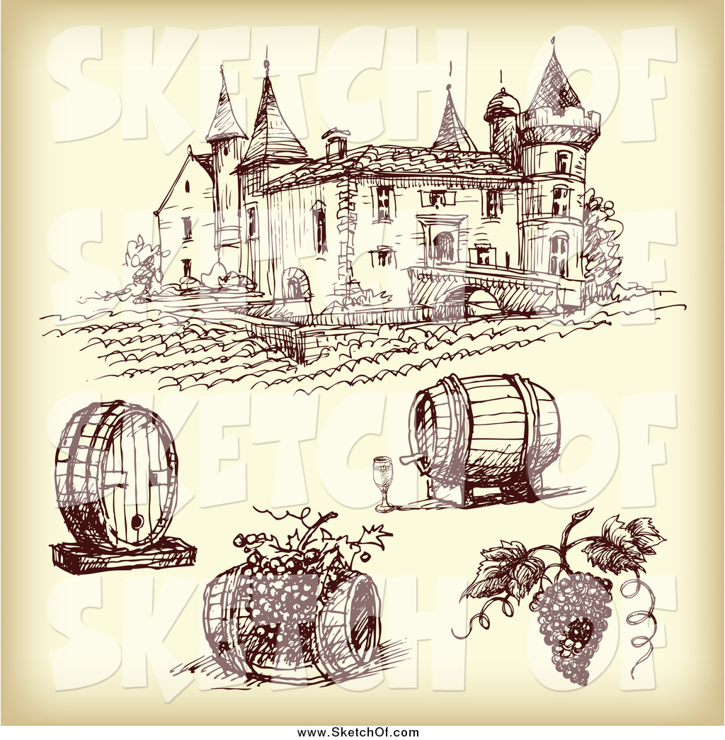 Vineyard clipart drawing Drawing #755 with Items by