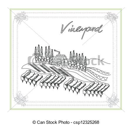 Vineyard clipart drawing Vector Vector of Vector Clip