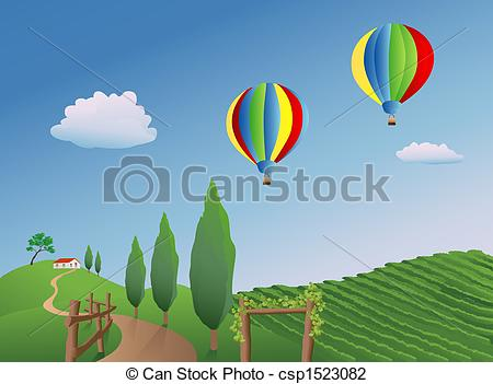 Vineyard clipart english  over a Balloons Balloons