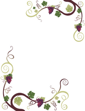 Vineyard clipart grape plant Border free art video clip