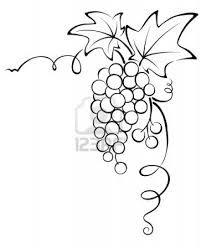 Grape clipart grape vine And Vine art Art of