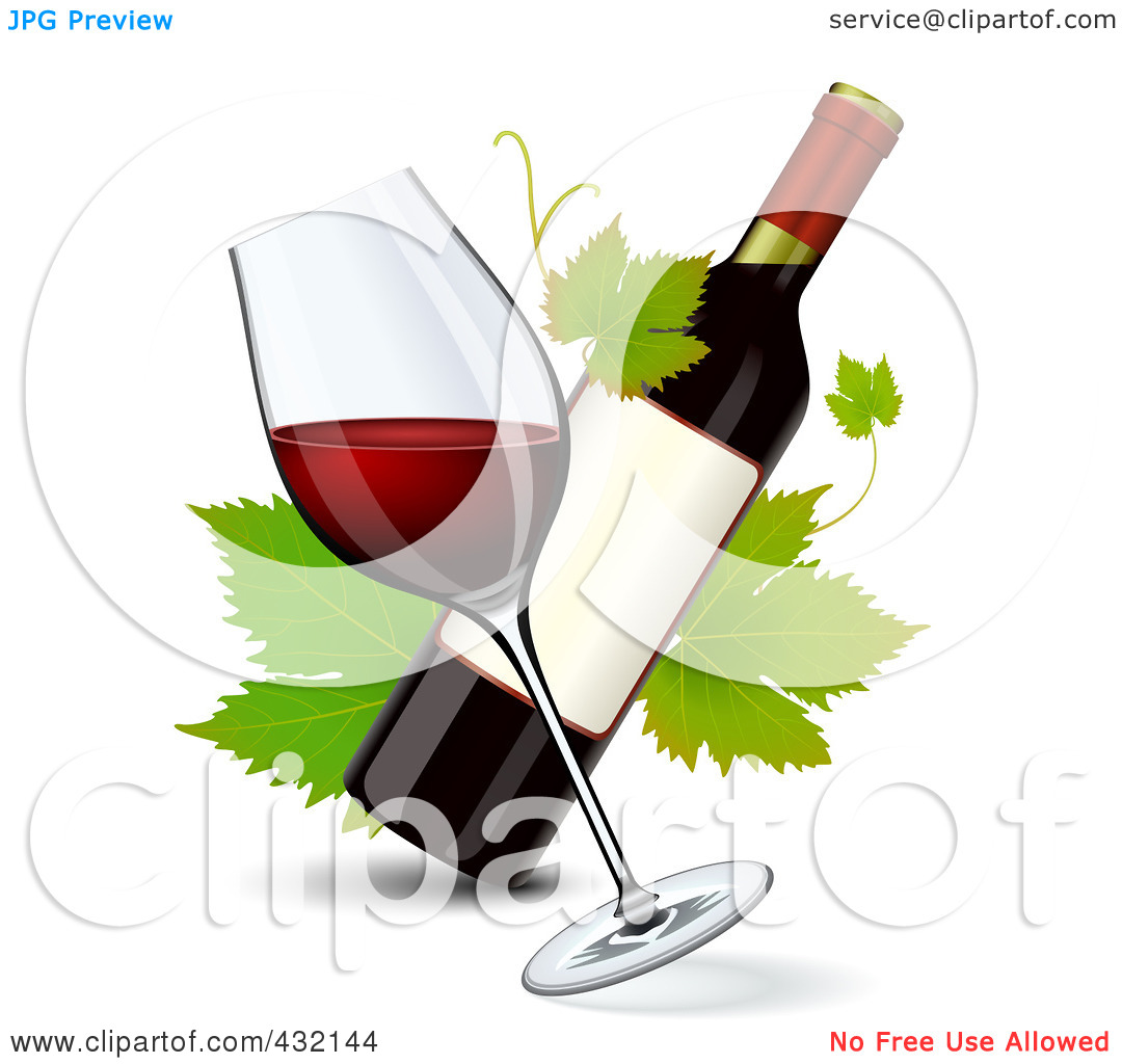 Wine clipart winery Google leaves GRAPES wine bottles