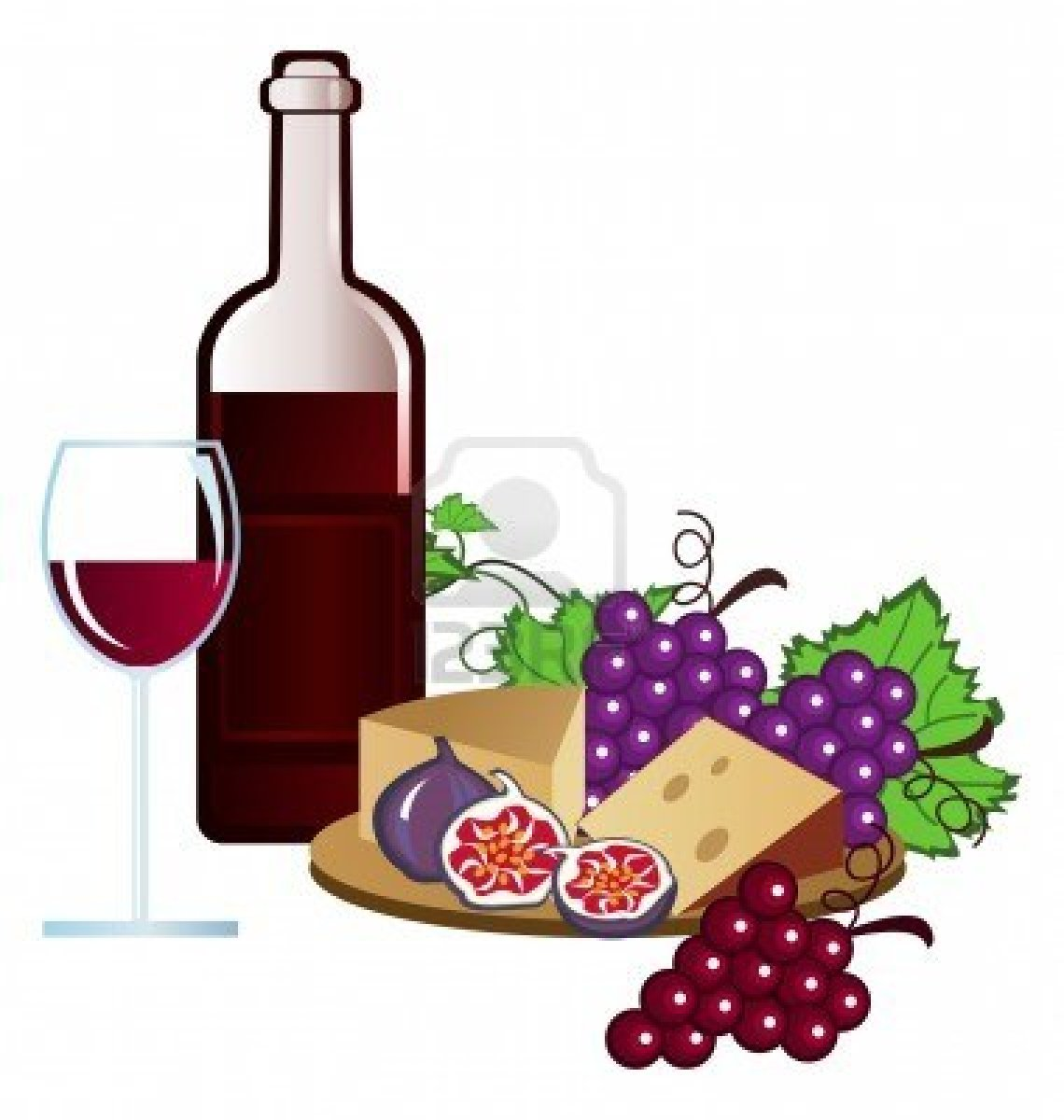 Cheese clipart wine glass And Wine Grape Clipart and