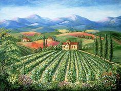 Vineyard clipart village Prints Art And Art Canvas