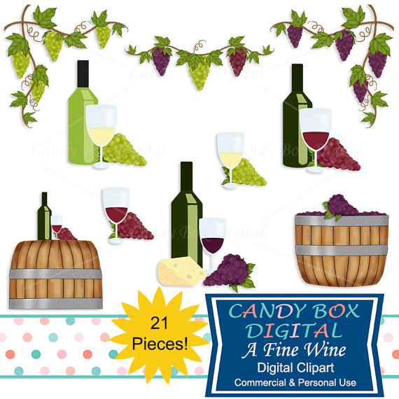 Vineyard clipart wine tasting Grape and from with and