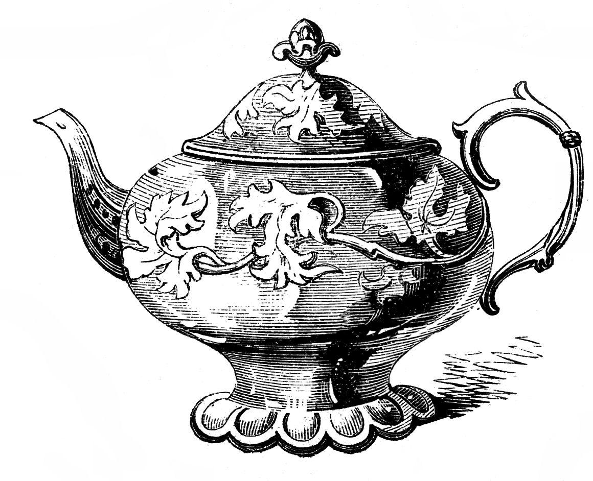Vintage clipart 2 – Free Free Teapots