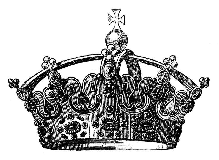Vintage clipart Best Crown Vintage clip Vintage