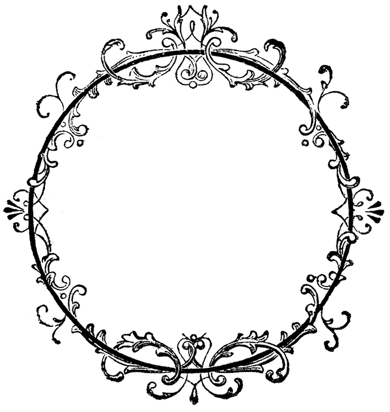 Circle clipart fancy Graphic Lacey Frame Art –