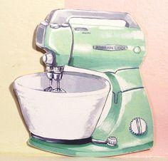 Blender clipart vintage kitchen  stuff mixer Vintage adorable