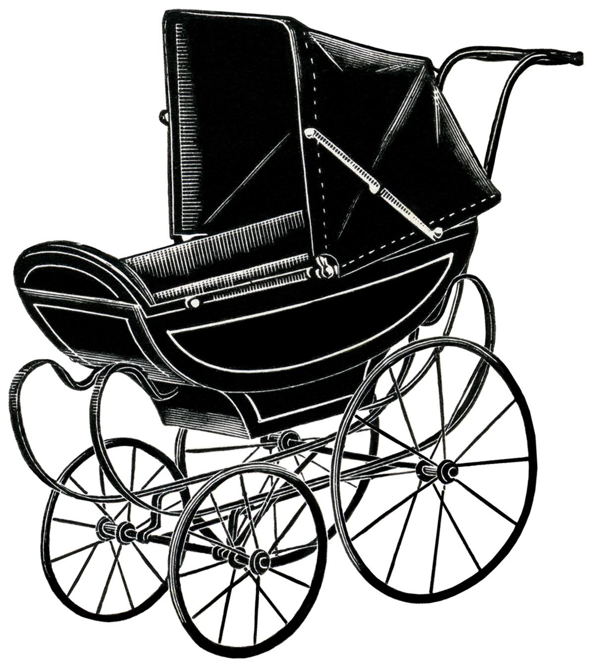 Carriage clipart old fashioned Image: digital Design Shop pram