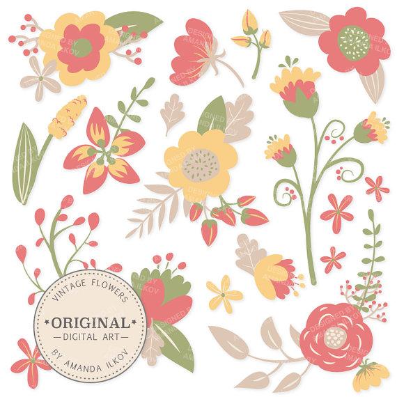 Vintage Flower clipart #9