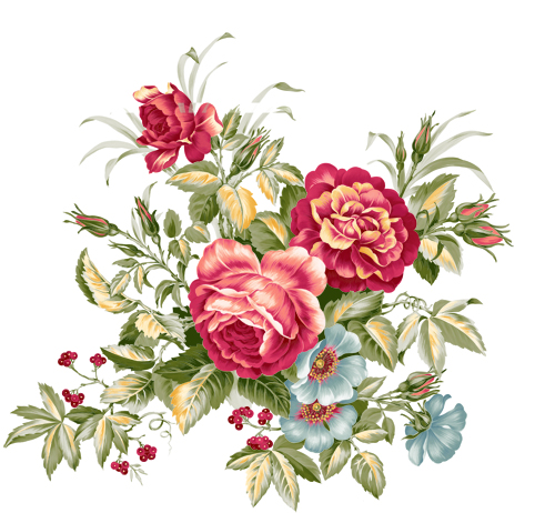 Floral clipart retro flower Free Floral Cliparts Clip Free