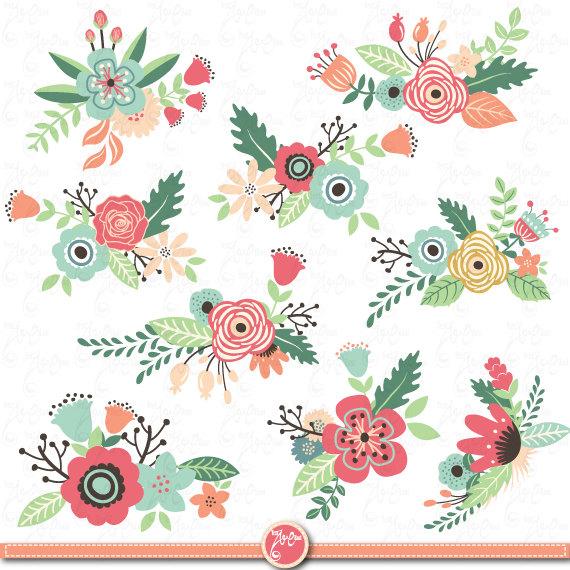 Vintage Flower clipart background Pack « »