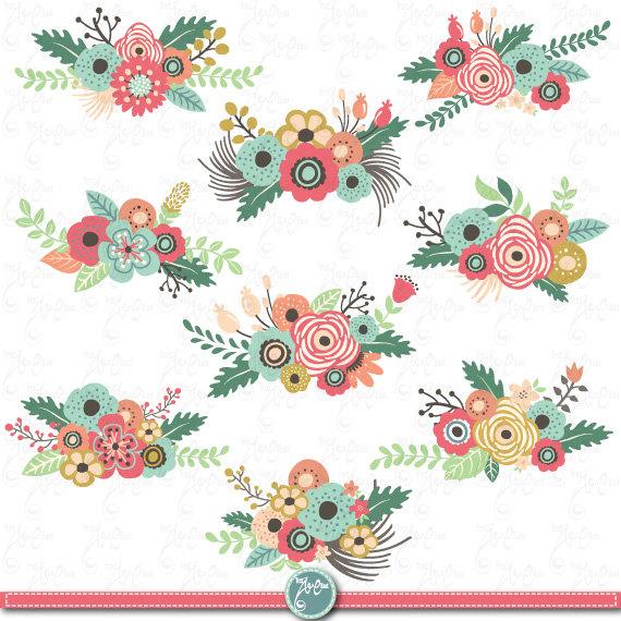 Vintage Flower clipart #3
