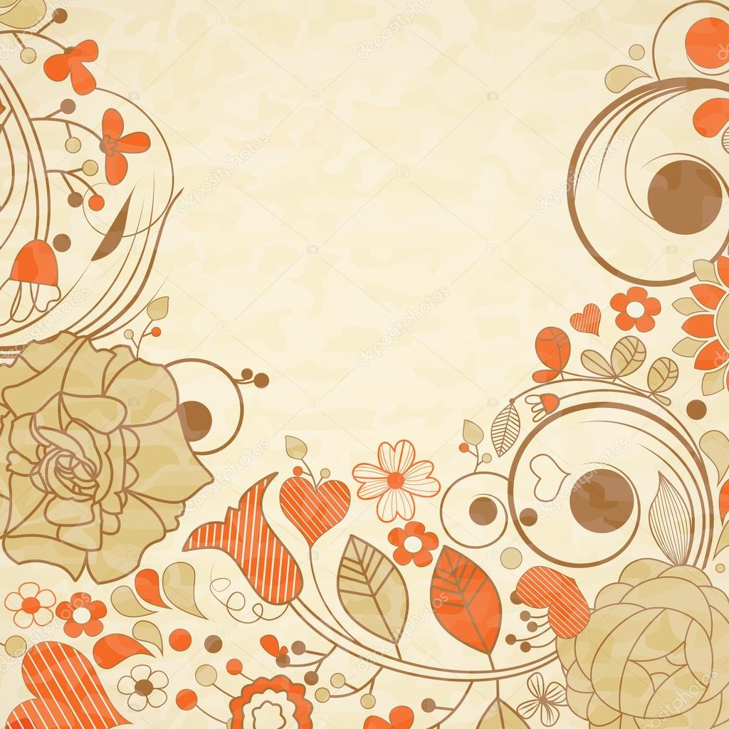 Vintage Flower clipart background Stock Vector floral Stock —