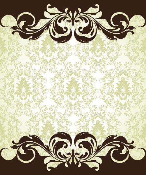 Vintage Flower clipart background Vintage Floral art on Background