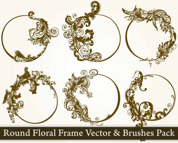 Vintage Flower clipart brush Vector  Floral Vector Vector