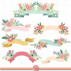 Wd035 Vintage digitale watercolor wreath