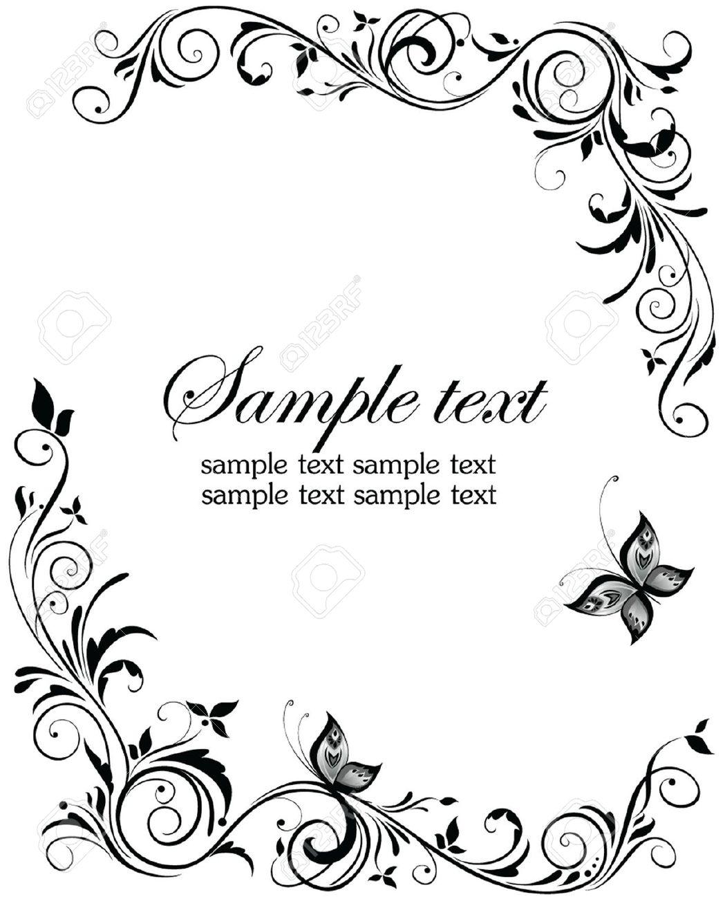Vintage Flower clipart elegant invitation #8