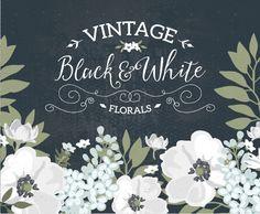 Vintage Flower clipart elegant invitation #7