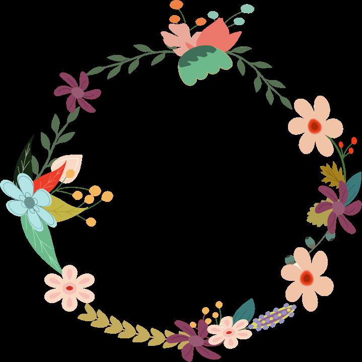 Circle clipart floral Flower Border Art Vintage Inspiration